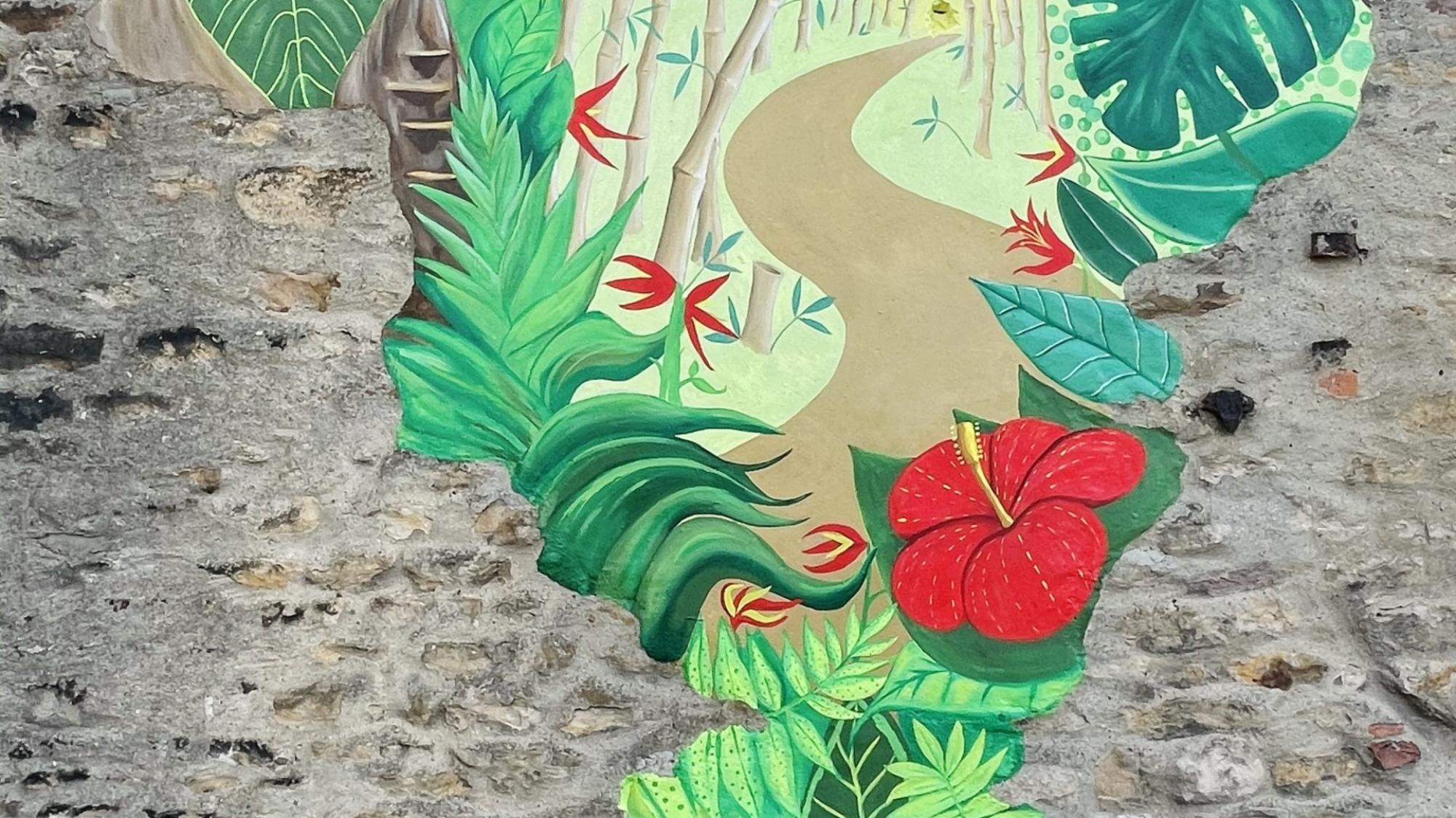 Wagon & Horses Mural